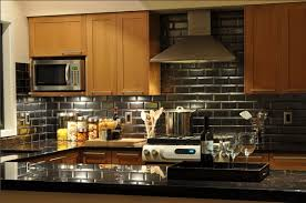 Subway Tile Backsplash Kitchen Black Subway Tile Kitchen Backsplash