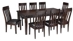 ashley signature design haddigan 9 piece rectangular dining room ashley signature design haddigan 9 piece dining room table side chair set item