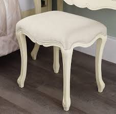 Juliette Bench Shabby Chic Champagne Stool Bedroom Furniture Direct