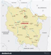 Champagne France Map by Lorraine Map Stock Vector 175348751 Shutterstock