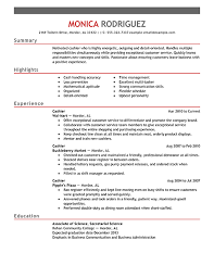 Resume Sles For Cashier Exles Of Cashier Resume Cashier Resume Exle Print