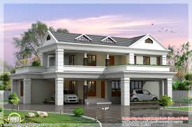 storey sloping roof home plan kerala design floor plans building