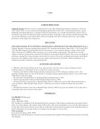 Career Objective Samples For Resume by Sample Resume Career Objective Finance Graduate