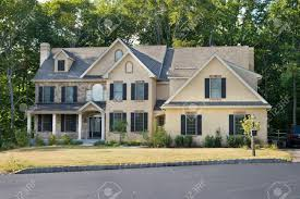 colonial house style new single family house in suburban philadelphia pa modernized
