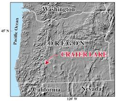 map of oregon near crater lake usgs crater lake or introduction