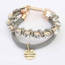 gold chain bracelet with leather images Black leather free sample fashion bracelets hot jewelry trends jpg