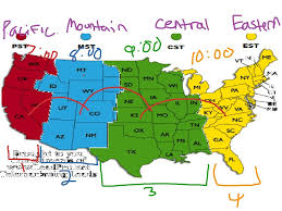 map showing time zones in usa state abbreviations and time zones map of usa