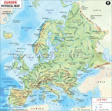 map of euroup geographical map europe travel maps and major tourist