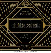 Art Deco Wedding Art Deco Wedding Invitation Card Vector Stock Vector 323597357
