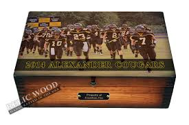 personalized football player memory box