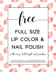 nail salon gift cards free size lip color nail with gift card purchase