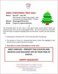 tree sales abgc news
