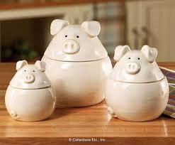 pig kitchen canisters 3pc piglets canister set pigs piglets