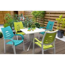 kettler urbano happy 4 seater dining set lime