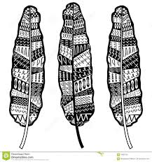 aztec zentangle style feathers symbolizing american culture