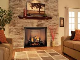 brick fireplace room paint colors with red brick fireplace small