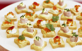 cuisine canapé canapés with three toppings recipe food to