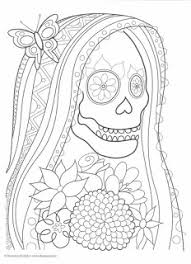 coloring pages los muertes coloring