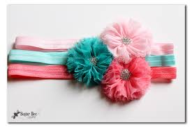 baby headband diy easy elastic hair ties and headbands no sew with hairbow