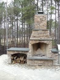 Backyard Fireplace Plans by 48