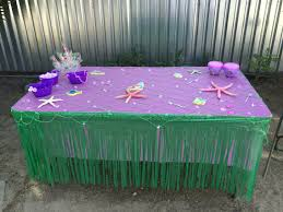 table decorations little mermaid mermaid party ideas pinterest