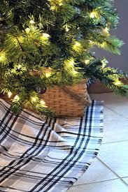 easy no sew plaid christmastree skirt