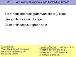 01 10 11 bar graphs histograms and misleading graphs today u0027s