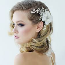 hair pieces for wedding flower hair pieces for weddings vintage flower hair accessory mara