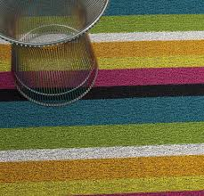 Modern Indoor Outdoor Rugs Chilewich Bold Stripe Blue White Black Orange Green Yellow Pink