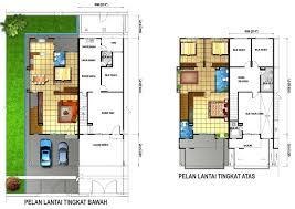 double storey terrace unit building plans online 55998