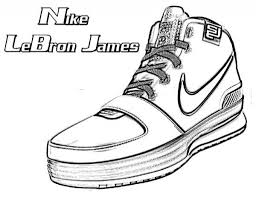 basketball shoes coloring pages getcoloringpages for lebron james