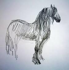artwork pictures zuidlaardermarkt horse fair art sketch5 aafke