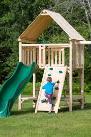 play a round frontier fort wooden swing set and outdoor playset