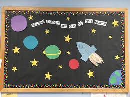 september bulletin board for second grade out of this world