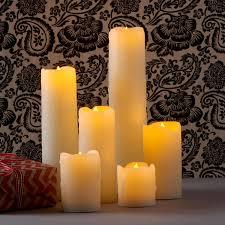 lights flameless candles pillar candles melted