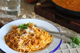 spaghetti in roasted pumpkin and tomato sauce recipe by archana u0027s
