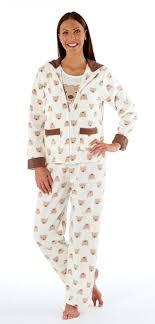 veste de chambre femme ensemble de pyjama en polaire motif d ours avec veste à