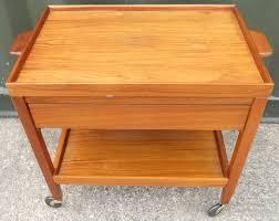 teak tea trolley with drawer