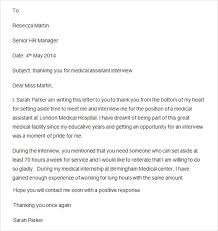 sample thank you letter after interview 15 free documents in