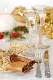 Gold Table Setting by Festive Christmas Table Setting With Gold And Red Theme And
