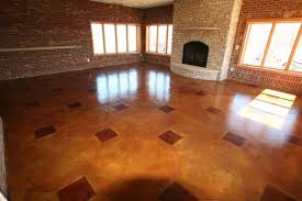 Basement Floor Stain by Countryside Concrete Inc Stained U0026 Engraved