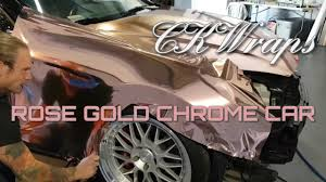rose gold hummer rose gold chrome detailed info on how to wrap your fender how to