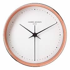 Scandinavian Wall Clock Georg Jensen Henning Koppel Copper Clock Large