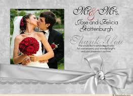 wedding photo thank you cards photo silver thank you card grateful style showcase
