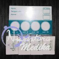 Serum Tes Golongan Darah jual produk sejenis 1 paket serum uji darah dan kertas golongan