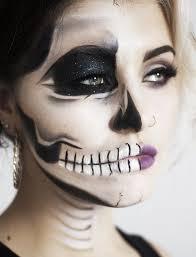tutorial edgy half face skull face paintings half sugar skull makeup