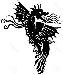 unique european medieval dragon stock vector tattoo celtic images