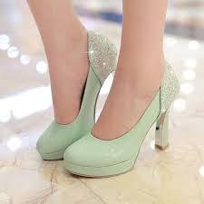 wedding shoes chunky heel 2016 mint green pumps high heels wedding shoes toe