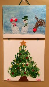 christmas footprint and handprint art aiden craft ideas