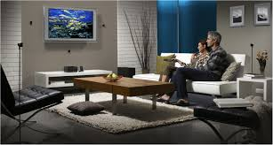 Home Theater Sleeper Sofa Living Room Calming Two Tone Brown Living Room Theater Set With